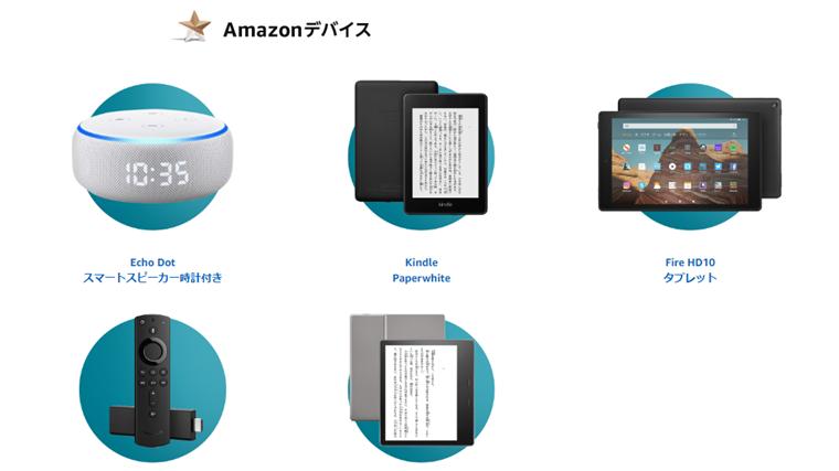 サイバーマンデでおとくになる商品_Amazonデバイス